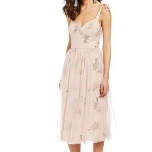 Chelsea & violet blush dress, rose pastel dress